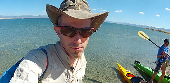 Unshaven author at Mono Lake